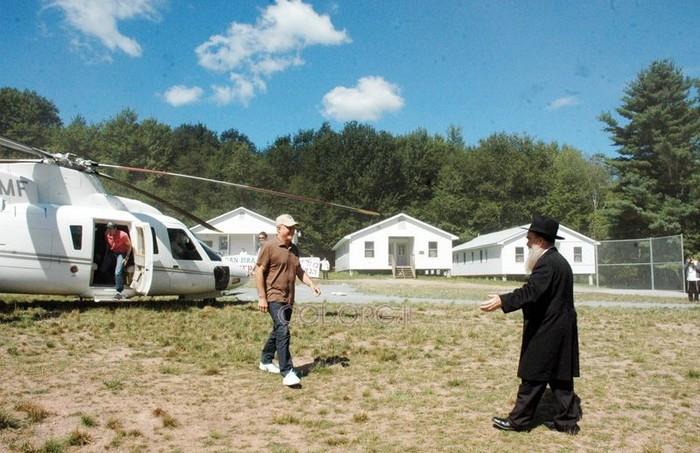 Ronald Perelman visits Camp Gan Israel NY